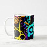 Abstract neon splatter modern colored Coffee Mug