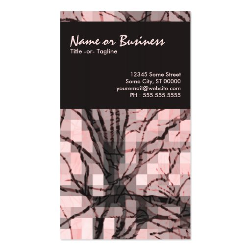 abstract nerves business card template