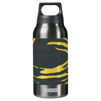 Abstract Nest Design in Yellow & Gray Insulated Water Bottle