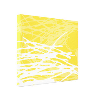 Abstract Nest in White and Yellow Canvas Print