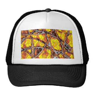 abstract net hats