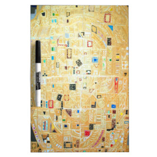 Abstract New World Map (abstract map) Dry-Erase Board