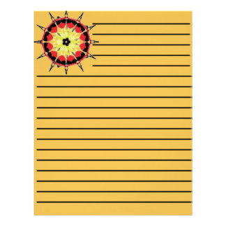 Abstract nice color pattern letterhead