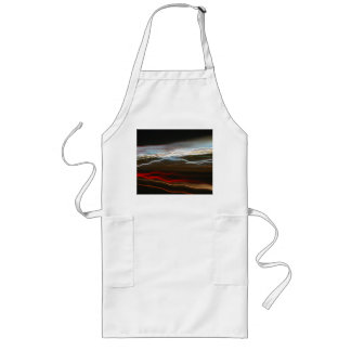 Abstract Night Time Light Trails Blur Long Apron