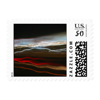 Abstract Night Time Light Trails Blur Postage