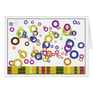 Abstract Notecards Card