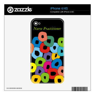 Abstract Nurse Practitioner Electronic Cases iPhone 4 Decals