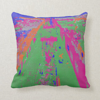 Abstract Observation Deck NYC Half-tone Pillow