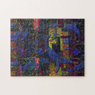 Abstract Ocean Aquatic Life Art Jigsaw Puzzle
