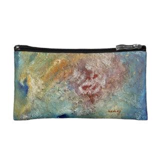Abstract Ocean Bag Cosmetics Bags