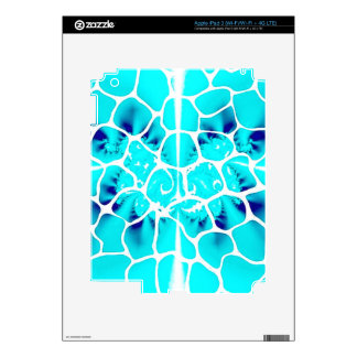Abstract Ocean Blue Butterfly iPad 3 Decal