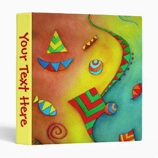 Abstract Ocean Colorful Art Binder