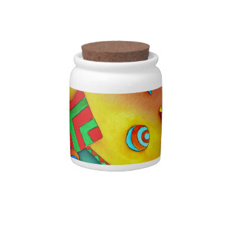 Abstract Ocean Colorful Art Candy Jar