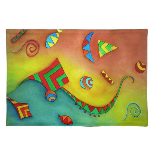 Abstract Ocean Colorful Art Placemat