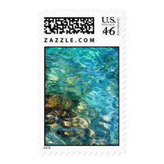 Abstract Ocean Stamp