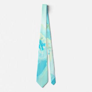 Abstract Ocean Wave Aqua Tie