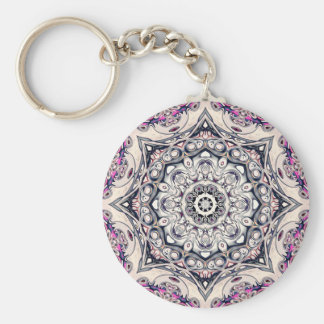 Abstract Octagonal Mandala Keychain