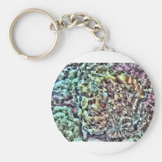 Abstract Octopus Keychain