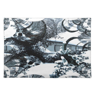 Abstract of A Cold Winter s Day Place Mat