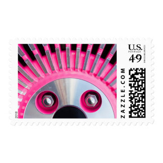 Abstract Of A Pink Hub Cap Postage