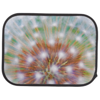 Abstract of dandelion seed head car mat