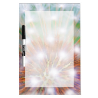 Abstract of dandelion seed head dry erase board