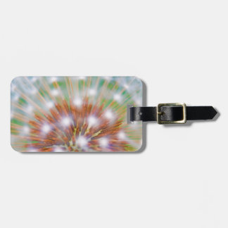 Abstract of dandelion seed head tag for luggage
