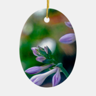 ABSTRACT OF FLORAL BUDS CERAMIC ORNAMENT