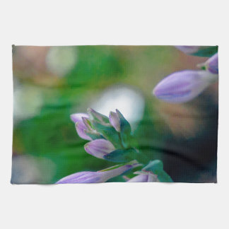ABSTRACT OF FLORAL BUDS KITCHEN TOWEL