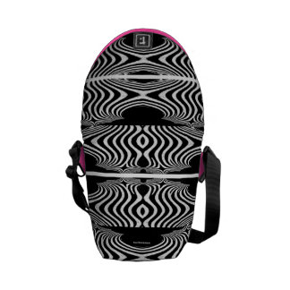Abstract of Zebra Girly Pattern Pink Stripes Xmas Courier Bag