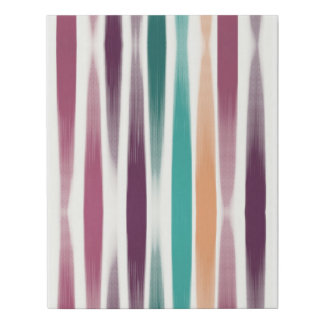 Abstract oil brush strokes in marsala and teal faux canvas print
