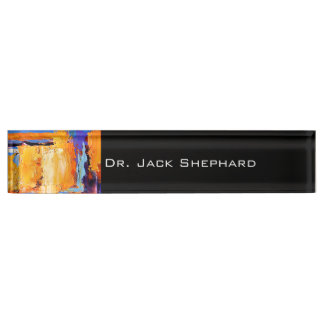 Abstract Oil Paint 1 Nameplates