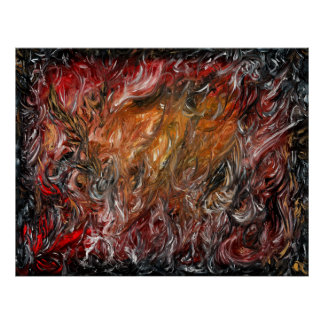 Abstract oil painting by Toby Mikle Poster