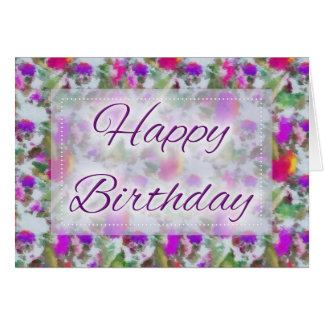 Abstract Oil Painting D2 Happy Birthday Card