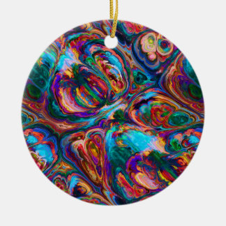 Abstract Oil Painting Inspired Ceramic Ornament