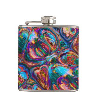 Abstract Oil Painting Inspired Flask