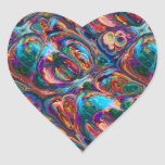 Abstract Oil Painting Inspired Heart Sticker