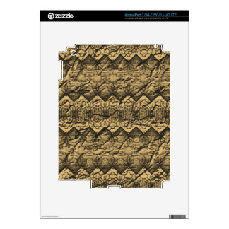 Abstract old paper pattern skins for iPad 3