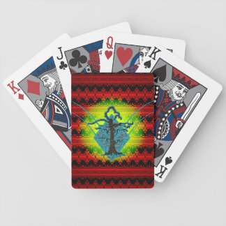 Abstract Old Withered Tree Bicycle Playing Cards