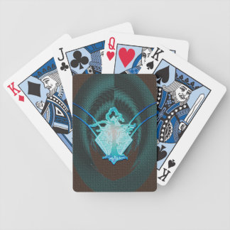 Abstract Old Withered Tree Blue Flame Bicycle Playing Cards