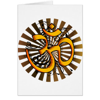 Abstract-om-3 Greeting Card