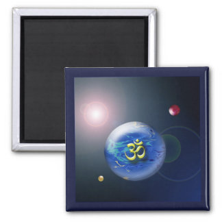Abstract Om Cosmos Magnet