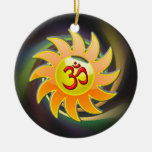ABSTRACT OM NECKLACE ORNAMENT