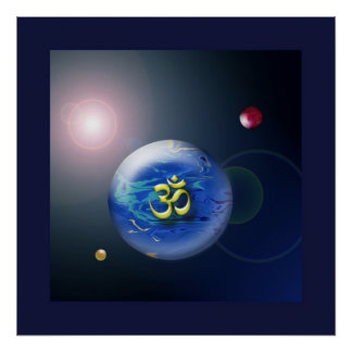 Abstract Om Shanti Space Poster Print
