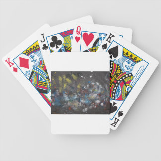 Abstract on Grey Bicycle Playing Cards