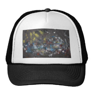 Abstract on Grey Trucker Hat