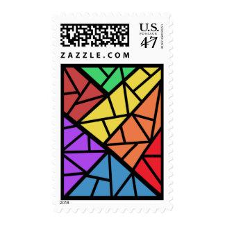 Abstract On The Slide Medium Postage Stamp