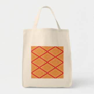 Abstract, optical illusion pattern design on many tote bag