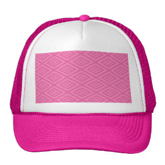 Abstract, optical illusion pattern design on many trucker hat