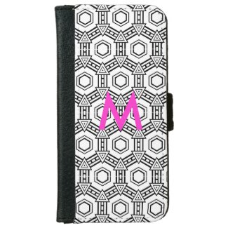 Abstract Optical Monogram iPhone6 Wallet Case